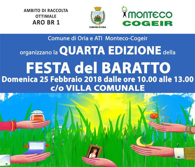 Festa del Baratto Oria a cura di Monteco