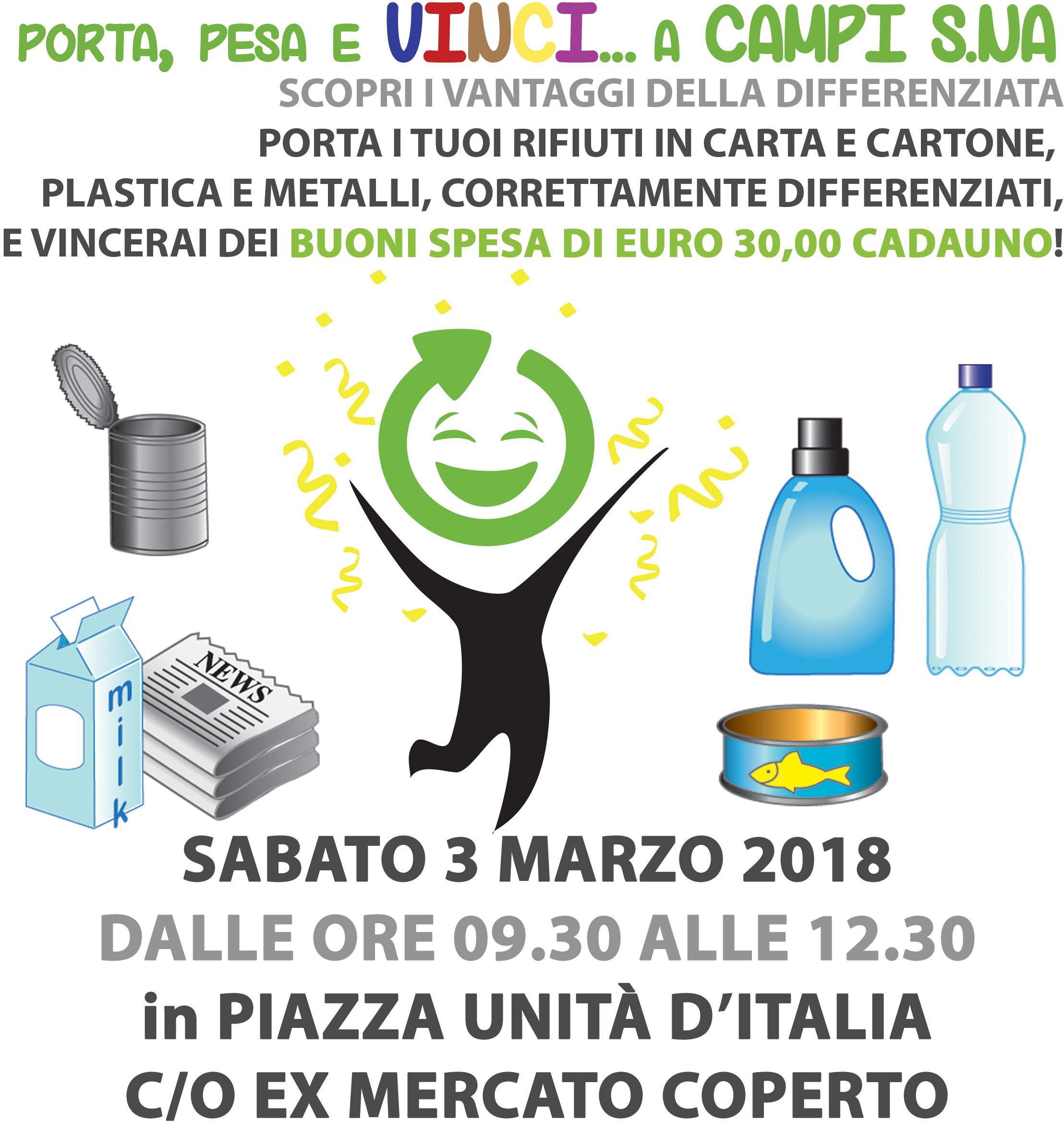 Campi Salentina. 1^ edizione dell'eco-concorso Porta, Pesa e Vinci